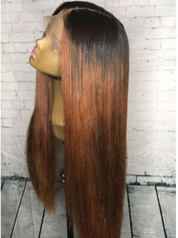 1B Ombre 4 Medium Reddish Brown Straight 360 Lace Wig LFS004