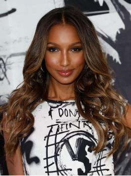 Jasmine Tookes Brown Ombre Wavy Lace Front Wig LFW004