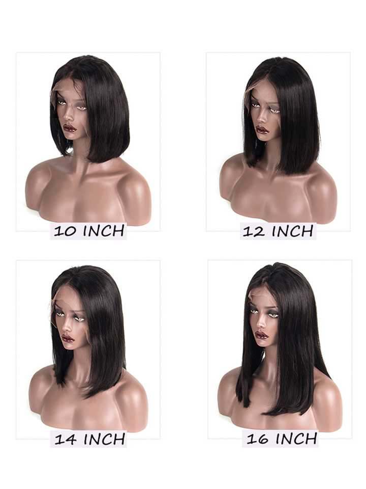 Kim Long Bob Straight Human Lace Wig OB007
