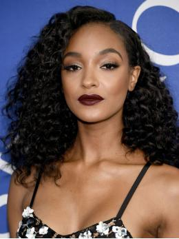 Jourdan Dunn Black Curly Full Lace Wigs OC006