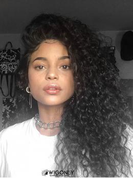 Curly Human Hair Glueless Full Lace Wig OC008