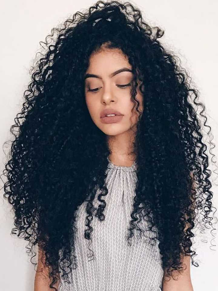 0a63e8d81a3 Long Curly Human Hair Glueless Lace Front Wig OC011  OC011 ...