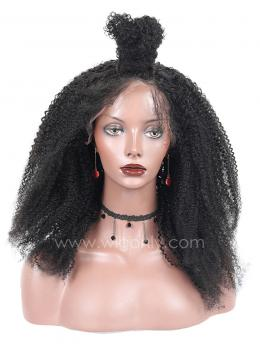 Kinky Curly Human Hair Glueless Full Lace Wig OCLF001