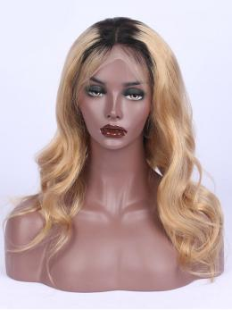 1B Ombre 27 Blonde Pretty Waves Human Hair Lace Wig OM014