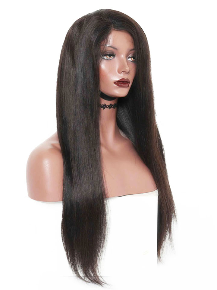 Natural Straight Human Hair Lace Front Wig OS001