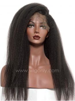 Kinky Straight Human hair Lace Wig OS003