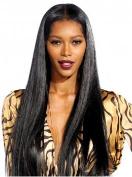 Yaki Straight Glueless Human hair Lace Wig OS006