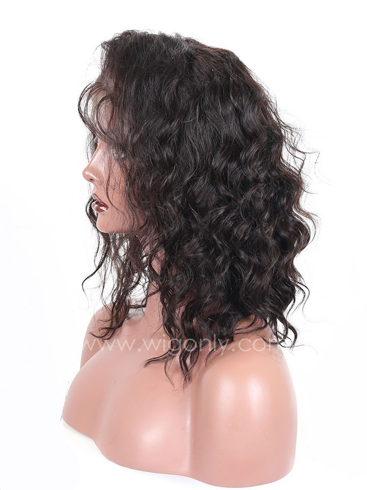 Romance Curl Short Human Hair Lace Wig OW005
