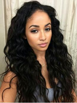 Wavy Glueless Human Hair Lace Front Wig OWLF003