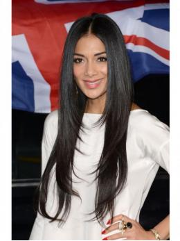 Layered Long Straight Celebrity Human Hair Full Lace Wig -TBF008