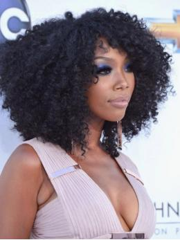 Stock Brandy Norwood Curly Human Hair Full Lace Wig-Curly-TBF023