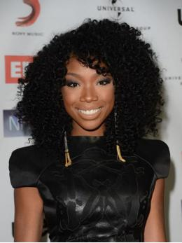 Stock Brandy Norwood Curly Human Hair Full Lace Wig-Curly-TBF024