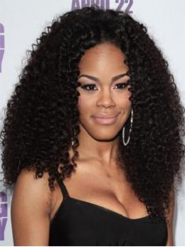 Stock Teyana Taylor Curly Human Hair Full Lace Wig-Curly-TBF025