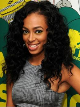 Stock Solange Inspired Wavy Human Hair Full Lace Wig-Wavy-TBF038